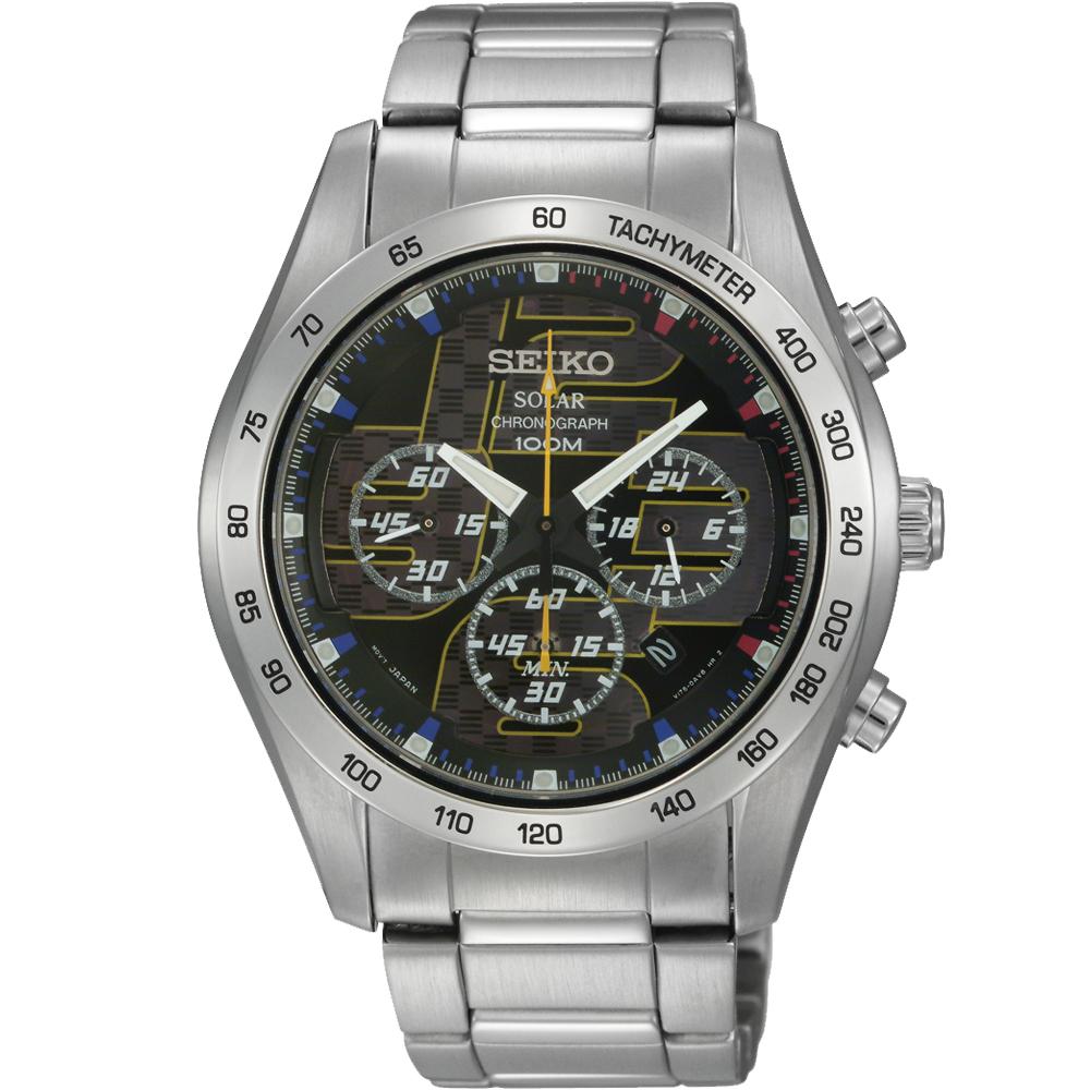 SEIKO criteria 舞力對決計時腕錶(SSC061P1)-黑/42mm
