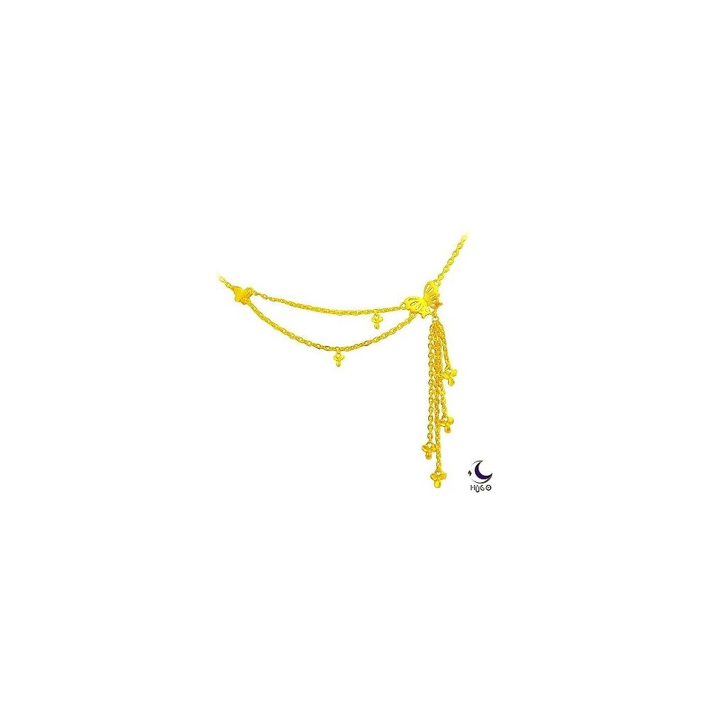 【HUGO】心心相蝶-純金項鍊