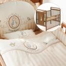 奇哥 比得兔大床+優雅比得兔六件床組-L