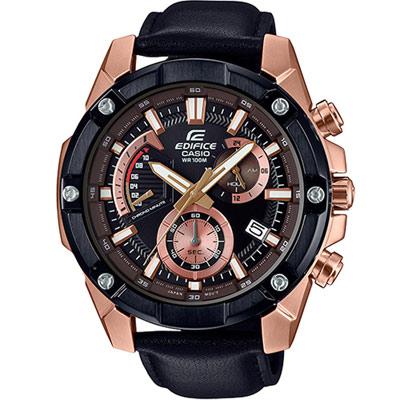 EDIFICE 粗曠霸氣玫瑰金計時腕錶(EFR-559BGL-1A)49.5mm