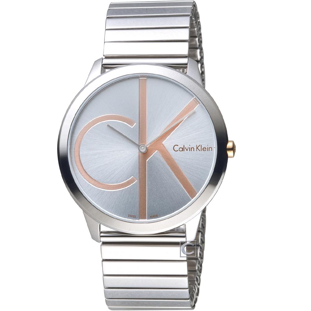 Calvin Klein ck minimal 大 ck 簡約時尚腕錶-40mm