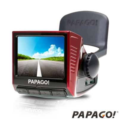 PAPAGO! P3 車道偏離/車距警示 行車記錄器 - 喜氣紅-快