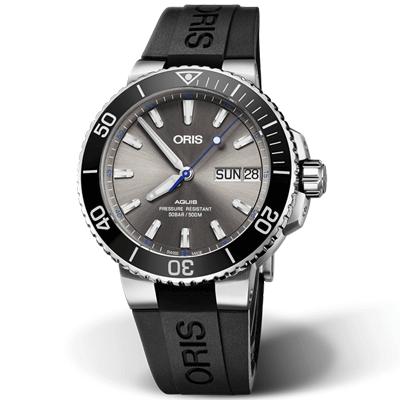(無卡分期24期)ORIS 豪利時  Hammerhead 路氏雙髻鯊限量機械錶-44mm-灰