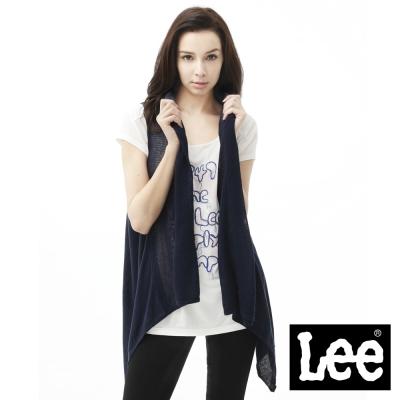 Lee 無袖背心外套  長版針織-女款(藍) LL11004806A
