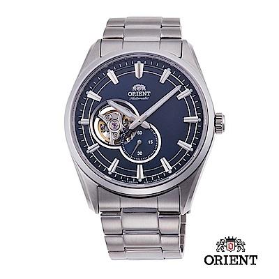 ORIENT 東方錶 SEMI-SKELETON系列 機械錶 鋼帶款 藍色 40.8mm