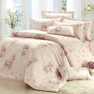 MONTAGUT-花映柔情-精梳棉-特大七件式鋪棉床罩組