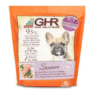 GHR 健康主義 紐西蘭 天然無穀犬糧 國王鮭魚  1 . 81 kg X  1 包