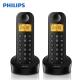 PHILIPS飛利浦數位雙子機無線電話D12