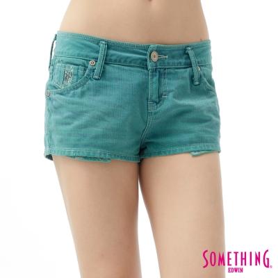 SOMETHING-女NEO清新丹寧短色褲