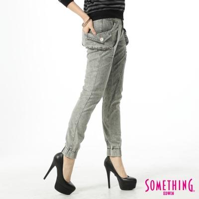 SOMETHING LADIVA 隨意裝扮立體彎袋束口褲-女款-灰褐