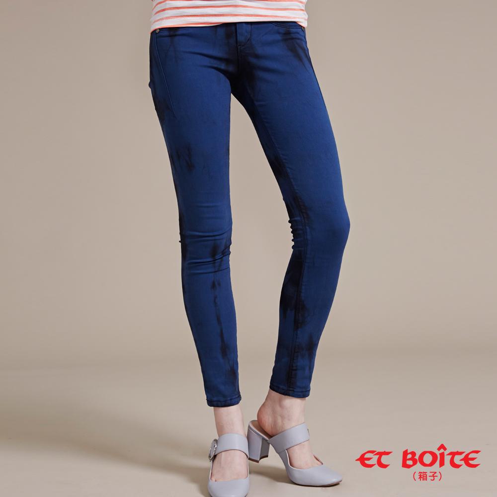 ETBOITE 箱子 BLUE WAY 輕薄彈力窄直色褲-藍
