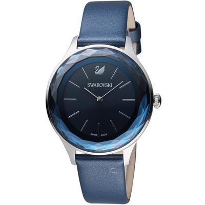 施華洛世奇SWAROVSKI Octea Nova系列都市切面腕錶-36mm/藍色