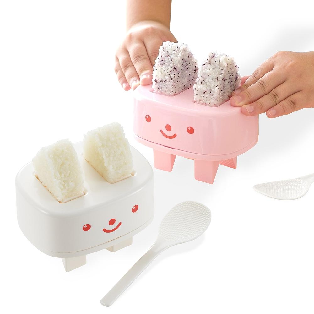 【特惠組】日本製造AKEBONO親子飯糰壓模器(白色 粉紅色)2入裝