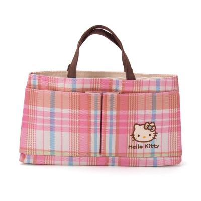 《Sanrio》HELLO KITTY彩色格紋系列袋中袋(包中包)