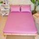 台灣製素色純棉床包枕套三件組-雙人 product thumbnail 1