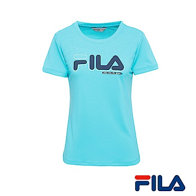 FILA女性圓領Logo T恤(湖水藍) 5 TER- 1433 -TQ