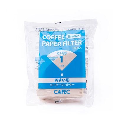 日本三洋 CAFEC CC1-100B V型咖啡濾紙100入無漂白*4包入(HG5565)