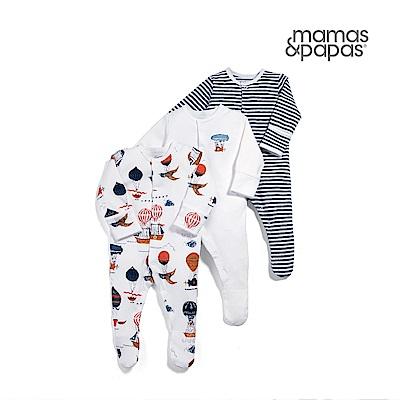 Mamas & Papas潛水艇熱氣球-連身衣3件組