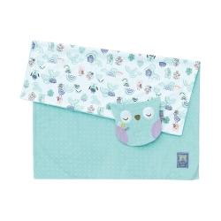 奇哥 PUP豆趣毯+安撫巾禮盒-粉綠