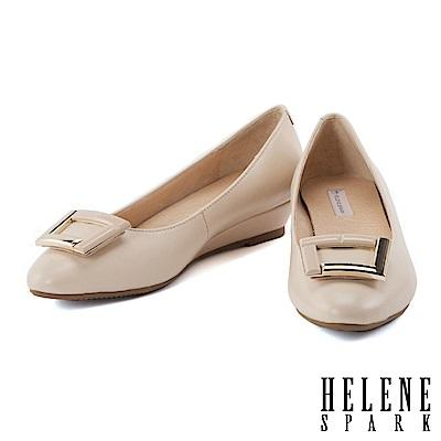 楔型鞋-HELENE-SPARK-典雅紋理拼接金屬