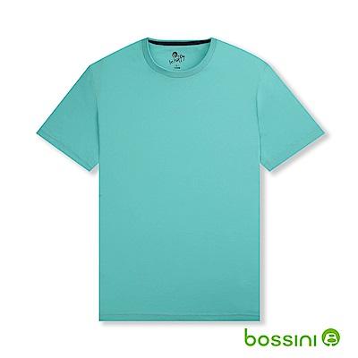 bossini男裝-素色純棉圓領T恤01藍綠
