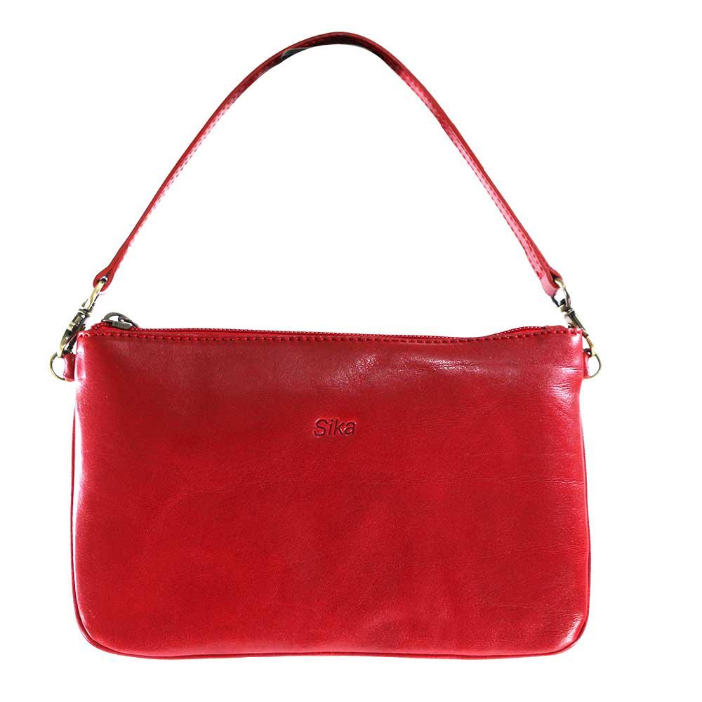Sika-義大利真皮迷你側肩背包A8234-04/魅力紅(背帶可拆換)
