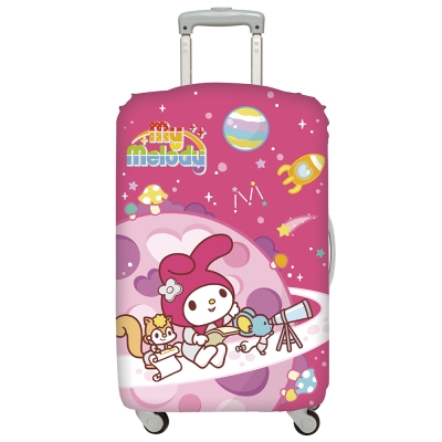 LOQI 行李箱套-美樂蒂 太空 (L號 適用28吋以上行李箱保護套)