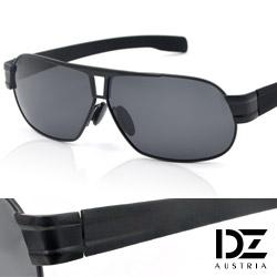 DZ 爵士T調 抗UV 偏光 太陽眼鏡墨鏡(黑框灰片)