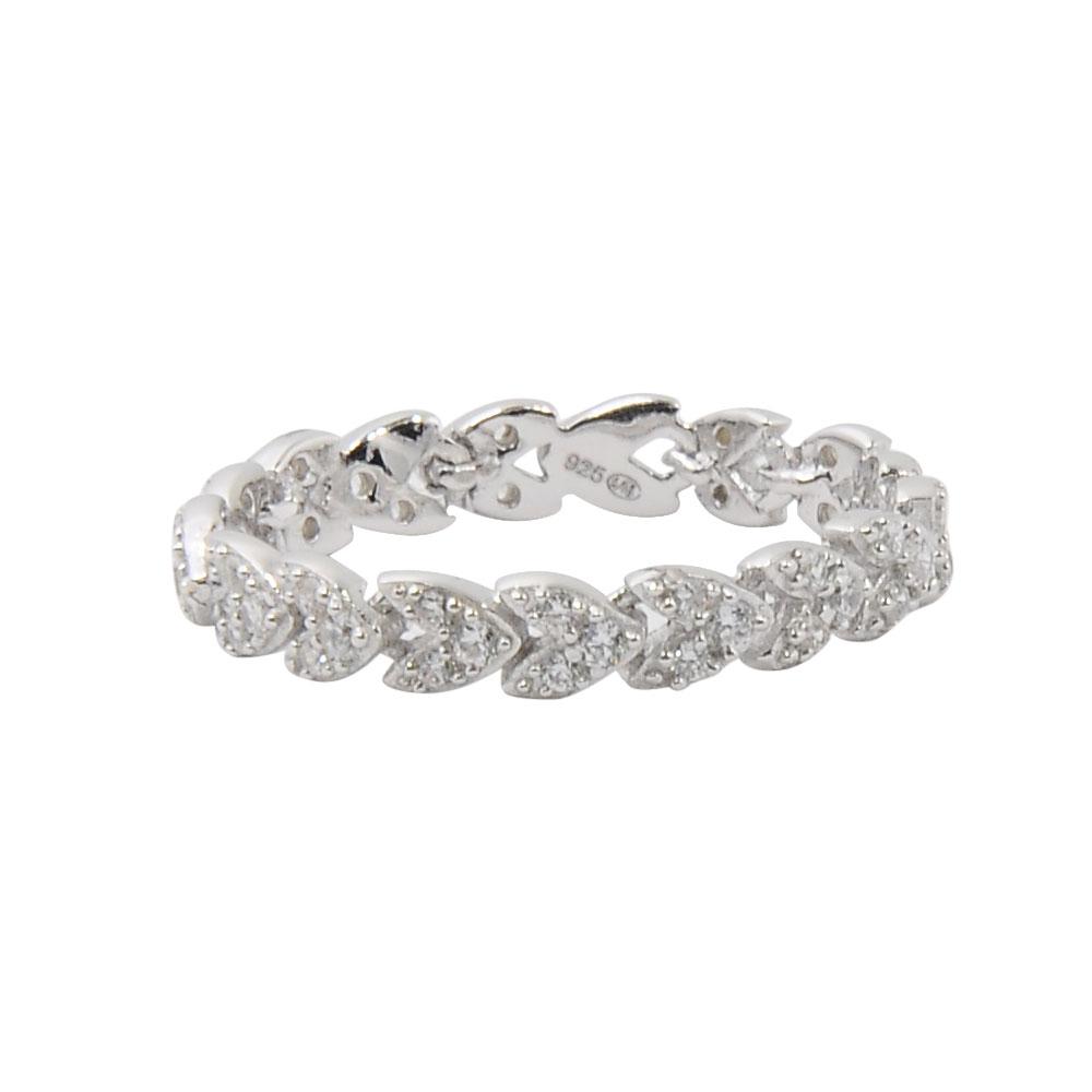 apm MONACO法國精品珠寶 閃耀簡約線條鑲鋯指骨戒