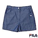 FILA KIDS 女童仿牛仔短褲-藍 5SHS-4442-BU