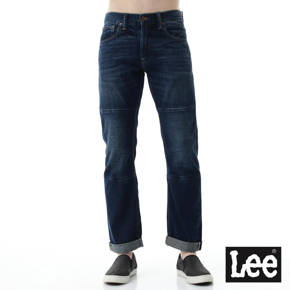 Lee 牛仔褲 726中腰標準小直筒牛仔褲- 男款-深藍