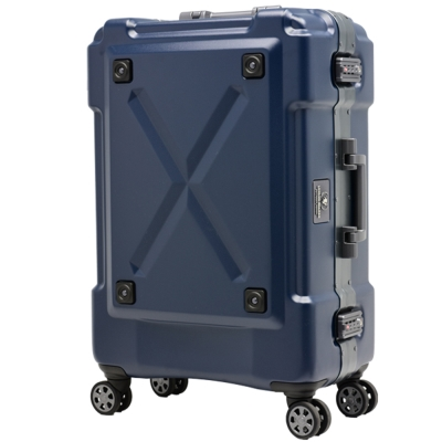日本 LEGEND WALKER 6302-62-26吋 鋁框密碼鎖輕量行李箱 消光藍