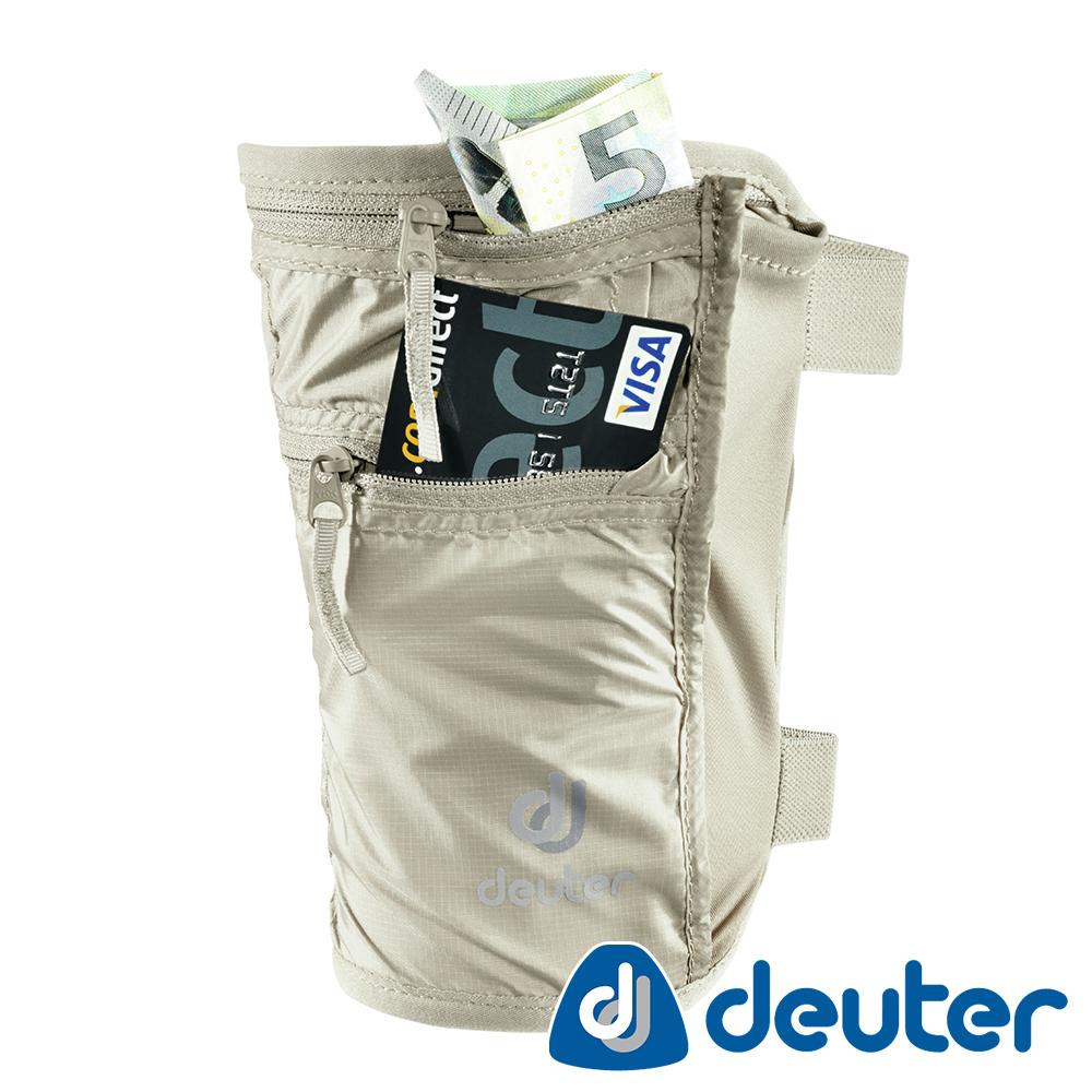 【ATUNAS 歐都納】德國DEUTER旅遊防竊隱藏式/腿套錢包證件包3942316卡其