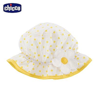 chicco-夏日風情-雙面帽-白