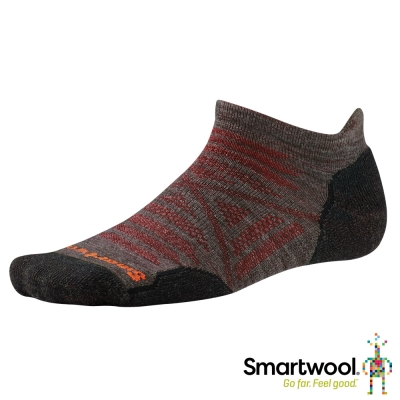 SmartWool 羊毛襪 PhD戶外輕量減震踝襪 灰褐色