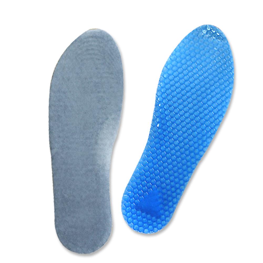 足的美形 藍色蜂窩式矽膠全墊 (2雙)