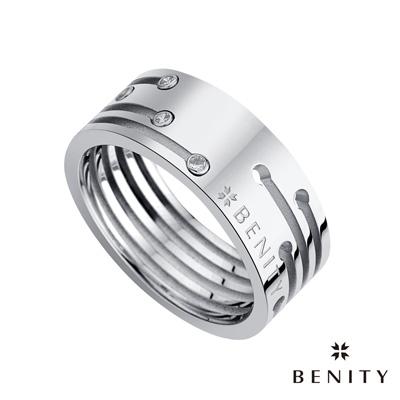BENITY 曖昧訊號  316L醫療級 白鋼 情侶對借款 男戒