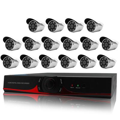 奇巧 16路AHD高清遠端監控套組(SONY八陣列燈130萬畫素攝影機x16)