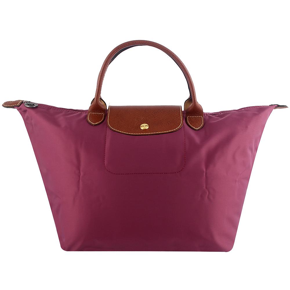 Longchamp 短帶折疊水餃包(靄紫色/中)