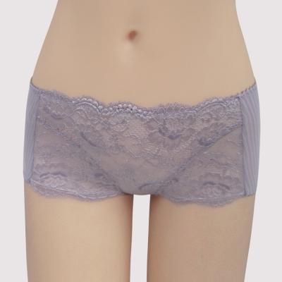 曼黛瑪璉 包覆提托Hibra大波  低腰平口內褲(雲灰粉)