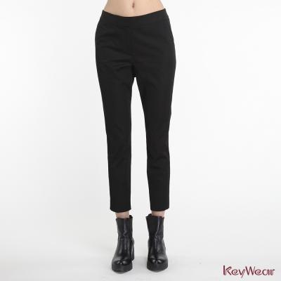 KeyWear奇威名品-舒適微彈亮面社交長褲