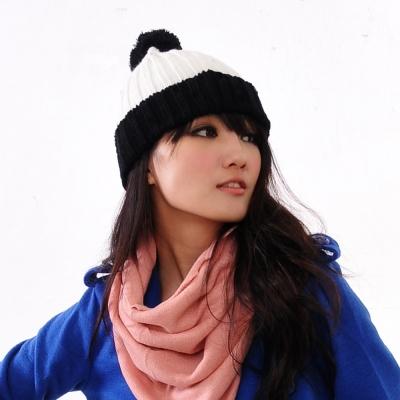 Aimee Toff 雙色歡慶可愛造型毛帽(黑)