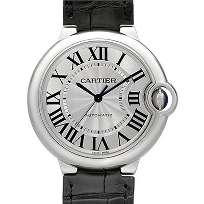 CARTIER 卡地亞 Ballon Bleu 經典羅馬時標機械腕錶-36mm