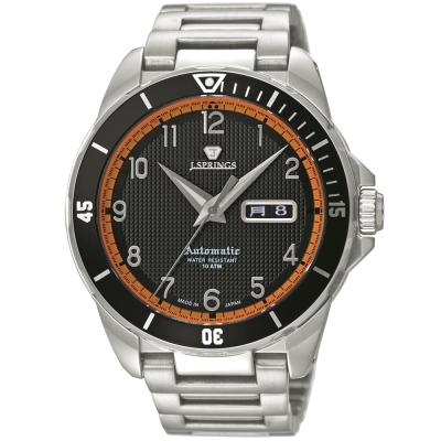 J.SPRINGS Authentic Sports自動上鍊機械錶款-銀/黑/黃-45mm