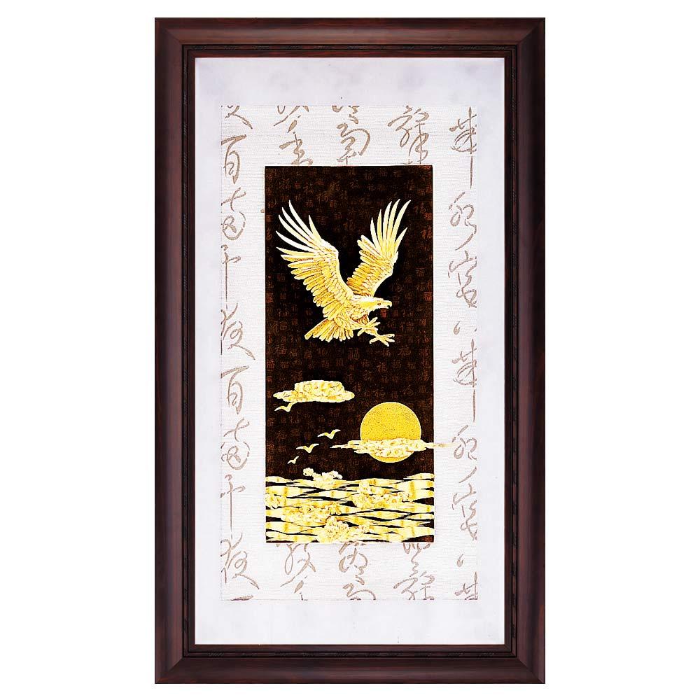 鹿港窯-立體金箔畫-大展鴻圖(彩金系列48x82cm)