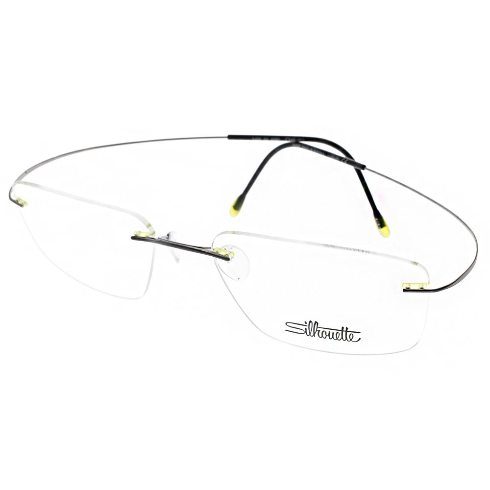 Silhouette詩樂眼鏡 輕盈無框款/槍-黑#ST5490 C6060