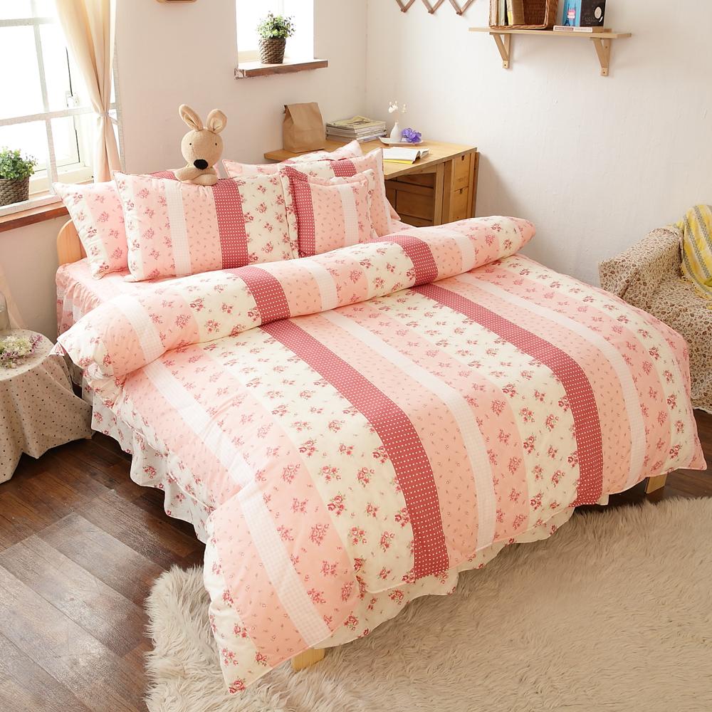 【FOCA-夢幻公主】MIT六件式精梳純棉兩用被床罩組-雙人