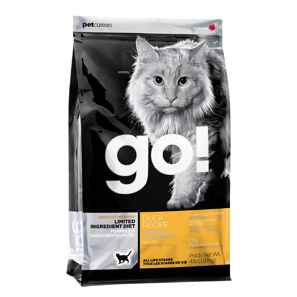 Go! 低致敏鴨肉無穀貓糧《8磅》