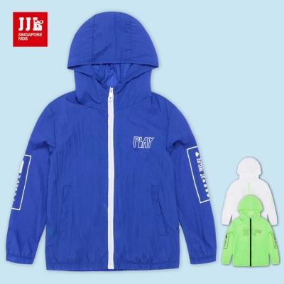 JJLKIDS 夏季拉鏈衫長袖連帽外套(3色)