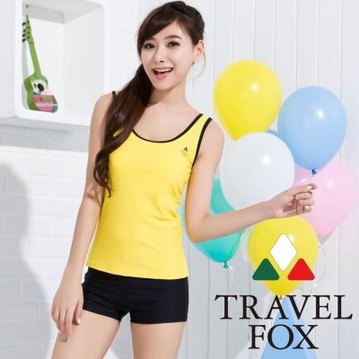 夏之戀TRAVEL FOX 亮麗熱賣款長版兩件式泳衣